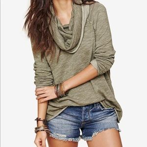 Free people beach cocoon cowlneck sweater
